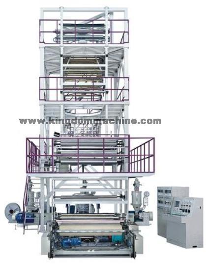 Машина пластического дуновения для упаковочной пленки с многослойным выдавливанием (вращательный тя