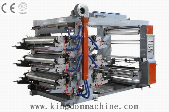 Six Colors Flexo Printing Machine For Plastic Bag